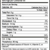 NutriBiotic Rice Protein Nutrition Label